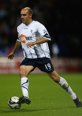 McCann with Bolton Wanderers after his time at Everton