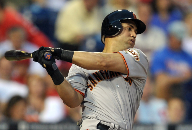 PHILADELPHIA, PA - JULY 28: Carlos Beltran #15 of the San Francisco Giants strikes out in his second at bat during the game against the Philadelphia Phillies at Citizens Bank Park on July 28, 2011 in Philadelphia, Pennsylvania. (Photo by Drew Hallowell/Ge