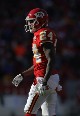 KANSAS CITY, MO - DECEMBER 05:  Brandon Flowers #24 of the Kansas City Chiefs in action during the game against the Denver Broncos on December 5, 2010 at Arrowhead Stadium in Kansas City, Missouri.  (Photo by Jamie Squire/Getty Images)