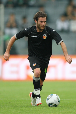 VIENNA, AUSTRIA - JULY 26:  Juan Mata of Valencia CF in action during the preseason friendly match between SK Rapid Wien and Valencia CF at Gerhard Hanappi Stadion on July 26, 2011 in Vienna, Austria.  (Photo by Paolo Bruno/Getty Images)