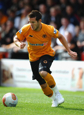 CREWE, ENGLAND - JULY 16:  Matt Jarvis of Wolves in action during the Pre Season Friendly match between Crewe Alexandra and Wolverhampton Wanderers at Gresty Road on July 16, 2011 in Crewe, England.  (Photo by Laurence Griffiths/Getty Images)