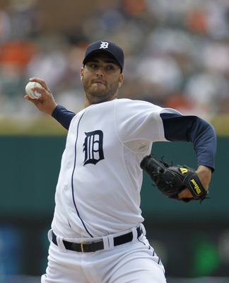 DETROIT - JUNE 13:  Armando Galarraga #58 of the Detroit Tigers pitches in the second inning against the Pittsburgh Pirates during the game on June 13, 2010 at Comerica Park in Detroit, Michigan. The Tigers defeated the Pirates 4-3.  (Photo by Leon Halip/