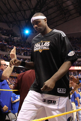DALLAS, TX - JUNE 07:  Brendan Haywood #33 of the Dallas Mavericks walks off the court after the Mavs beat the Miami Heat in Game Four of the 2011 NBA Finals at American Airlines Center on June 7, 2011 in Dallas, Texas. The Mavericks won 86-83. NOTE TO US