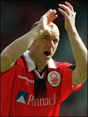 Yawning whilst playing for Notts Forest