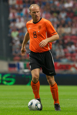 AMSTERDAM;NETHERLANDS - AUGUST 3: Dennis Bergkamp  during the Edwin van der Sar Testimonial at the Amsterdam Arena on August 3,2011 in Amsterdam,Netherlands. (Photo by Karel Delvoye/Getty Images for Laureus)