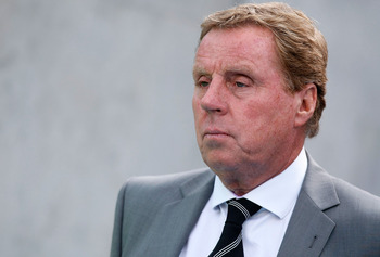 BRIGHTON, ENGLAND - JULY 30: Manager of Tottenham Hotspur, Harry Redknapp looks on prior to the Pre Season Friendly match between Brighton &amp; Hove Albion and Tottenham Hotspur at Amex Stadium on July 30, 2011 in Brighton, United Kingdom. (Photo by Tom Dula