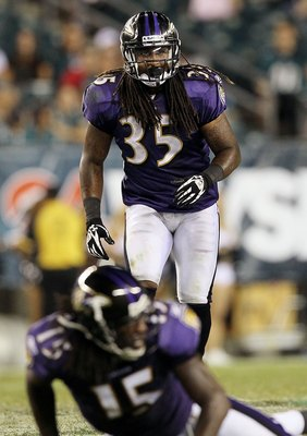 PHILADELPHIA, PA - AUGUST 11:  Anthony Allen #35 of the Baltimore Ravens in action against the Philadelphia Eagles during their pre season game on August 11, 2011 at Lincoln Financial Field in Philadelphia, Pennsylvania.  (Photo by Jim McIsaac/Getty Image