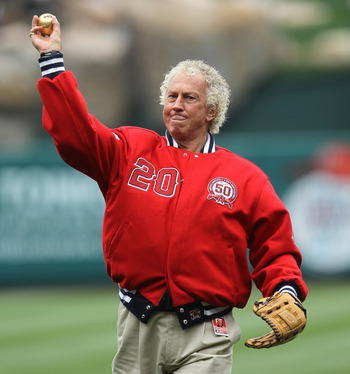 ANAHEIM, CA - MAY 22:  Hall of Fame pitcher, Braves broadcaster, and former Angel Don Sutton throws out the ceremonial first pitch before the game between the Atlanta Braves and the Los Angeles Angels of Anaheim on May 22, 2011 at Angel Stadium in Anaheim