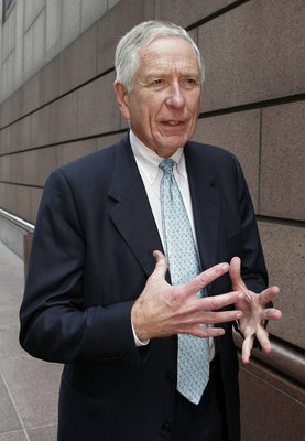 HOUSTON - FILE:  Houston Astros owner Drayton McLane gestures as he comments outside the Bob Casey U.S. Courthouse the fraud and conspiracy trial of former Enron executives Kenneth Lay and Jeff Skilling May 2, 2006 in Houston, Texas. According to reports