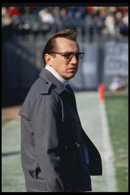 22 Jan 1984: Los Angeles Raiders owner Al Davis looks on during Super Bowl XVIII against the Washington Redskins at Tampa Stadium in Tampa, Florida. The Raiders won the game, 38-9.