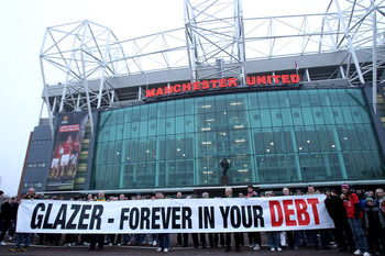 Fans Protest Banner at Old Trafford