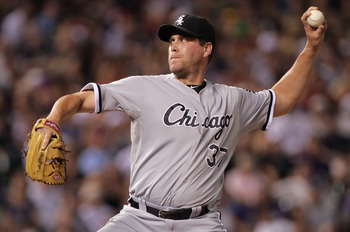 DENVER, CO - JUNE 28:  Relief pitcher Matt Thornton #37 of the Chicago White Sox delivers against the Colorado Rockies during Interleague play at Coors Field on June 28, 2011 in Denver, Colorado. The Rockies defeated the White Sox 3-2 in 13 innings.  (Pho
