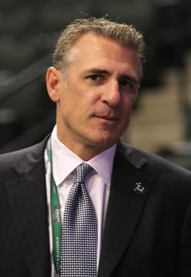 ST PAUL, MN - JUNE 24:  Director of Hockey Operations Ron Francis looks on during day one of the 2011 NHL Entry Draft at Xcel Energy Center on June 24, 2011 in St Paul, Minnesota.  (Photo by Bruce Bennett/Getty Images)