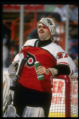 Goaltender Ron Hextall of the Philadelphia Flyers.