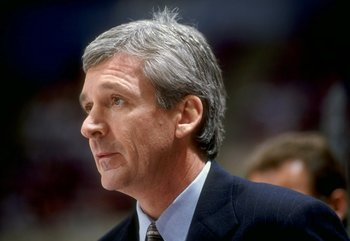 31 Oct 1998:  Florida Panthers head coach Terry Murray looks on during a game against the New Jersey Devils at the Continental Airlines Arena in East Rutherford, New Jersey. The Devils defeated the Panthers 3-1. Mandatory Credit: Elsa/Allsport