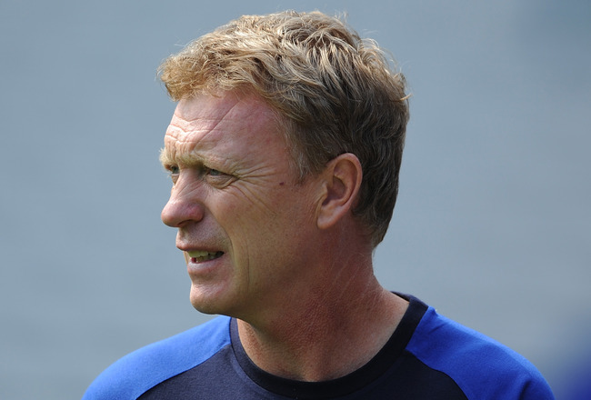 BIRMINGHAM, ENGLAND - JULY 30:  Everton manager David Moyes looks on during the pre season friendly between Birmingham City and Everton at St Andrews on July 30, 2011 in Birmingham, England.  (Photo by Chris Brunskill/Getty Images)