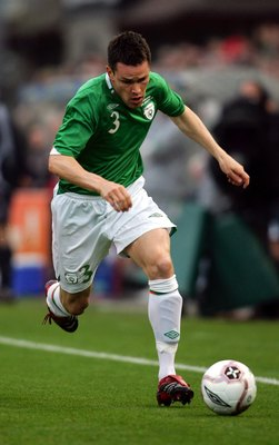 DUBLIN, IRELAND - AUGUST 16:  Steve Finnan of Ireland is shown in action during an International friendly match against the Netherlands at Lansdowne Road August 16, 2006 in Dublin, Ireland.  (Photo by Jamie McDonald/Getty Images)