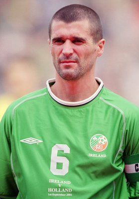 1 Sep 2001:  Portrait of Roy Keane of Ireland before the FIFA 2002 World Cup Qualifier against Holland played at Lansdowne Road in Dublin, Ireland.  Ireland won the match 1 - 0. \ Mandatory Credit: Jamie McDonald /Allsport