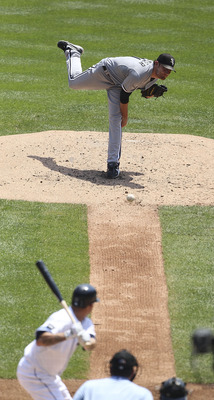 DETROIT - JULY 17:  Phil Humber #41 of the Chicago White Sox pitches in the third inning during the game against the Detroit Tigers at Comerica Park on July 17, 2011 in Detroit, Michigan. The Tigers defeated the White Sox 4-3.  (Photo by Leon Halip/Getty