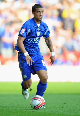 NOTTINGHAM, ENGLAND - APRIL 22:  Kyle Naughton of Leicester on the ball during the npower Championship match between Nottingham Forest and Leicester City at the City Ground on April 22, 2011 in Nottingham, England.  (Photo by Michael Regan/Getty Images)