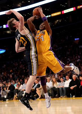 Gordon Hayward held his own against Kobe Bryant late last season.