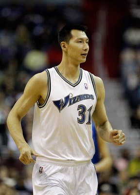 WASHINGTON, DC - FEBRUARY 26: Yi Jianlian #31 of the Washington Wizards against the Dallas Mavericks at the Verizon Center on February 26, 2011 in Washington, DC. NOTE TO USER: User expressly acknowledges and agrees that, by downloading and or using this
