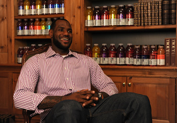 GREENWICH, CT - JULY 08:  (EXCLUSIVE COVERAGE) LeBron James attends the LeBron James Pre Decision Meet and Greet on July 8, 2010 in Greenwich, Connecticut. Proceeds from tonight's 2.5 million dollar event will be donated to the Boys & Girls Clubs of Ameri