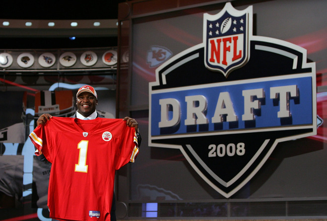 NEW YORK - APRIL 26:  Glenn Dorsey poses for a photo after being selected as the fifth overall pick by the Kansas City Chiefs during the 2008 NFL Draft on April 26, 2008 at Radio City Music Hall in New York City.  (Photo by Jim McIsaac/Getty Images)