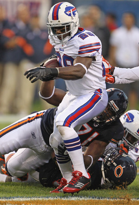 CHICAGO, IL - AUGUST 13: C.J. Spiller #28 of the Buffalo Bills runs against the Chicago Bears during a preseason game at Soldier Field on August 13, 2011 in Chicago, Illinois. The Bears defeated the Bills 10-3.  Photo by Jonathan Daniel/Getty Images)