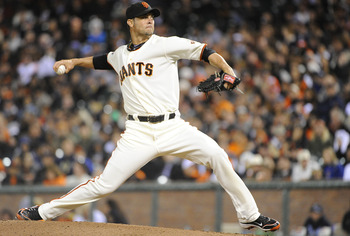 SAN FRANCISCO, CA - AUGUST 8: Ryan Vogelsong #32 of the San Francisco Giants pitches against the Pittsburgh Pirates in the fifth inning during an MLB baseball game at AT&T Park August 8, 2011 in San Francisco, California. (Photo by Thearon W. Henderson/Ge