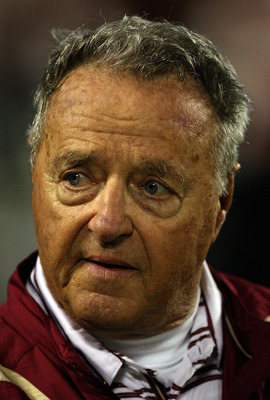 ORLANDO, FL - DECEMBER 27:  Florida State head coach Bobby Bowden watches the action during the Champs Bowl against the Wisconsin Badgers on December 27, 2008 at the Citrus Bowl in Orlando, Florida.  (Photo by Sam Greenwood/Getty Images)