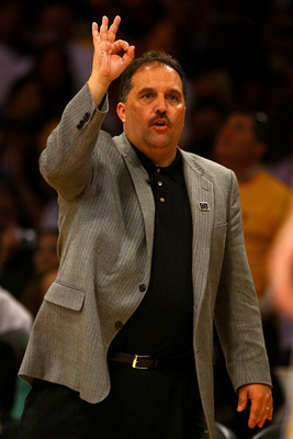 LOS ANGELES, CA - JUNE 04:  Head coach Stan Van Gundy of the Orlando Magic reacts during the game against the Los Angeles Lakers in Game One of the 2009 NBA Finals at Staples Center on June 4, 2009 in Los Angeles, California. NOTE TO USER: User expressly