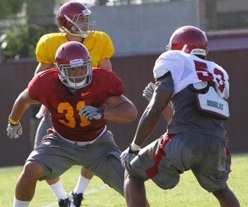 FB Soma Vainuku #31 during USC Fall Camp 2011