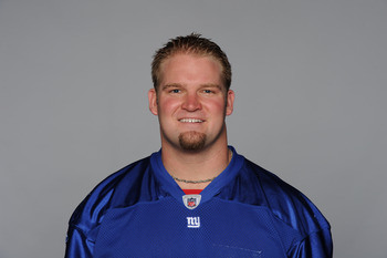 EAST RUTHERFORD, NJ - CIRCA 2010: In this handout image provided by the NFL, Adam Koets of the New York Giants poses for his 2010 NFL headshot circa 2010 in East Rutherford, New Jersey. (Photo by NFL via Getty Images)