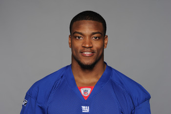 EAST RUTHERFORD, NJ - CIRCA 2010: In this handout image provided by the NFL, DJ Ware of the New York Giants poses for his 2010 NFL headshot circa 2010 in East Rutherford, New Jersey. (Photo by NFL via Getty Images)