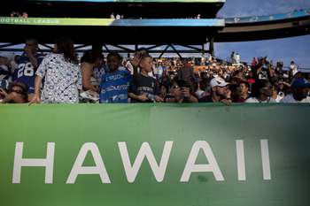 HONOLULU - JANUARY 30:  Fans fill the stadium during the 2011 NFL Pro Bowl at Aloha Stadium on January 30, 2011 in Honolulu, Hawaii.  (Photo by Kent Nishimura/Getty Images)