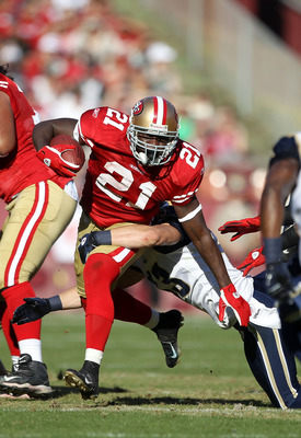 Frank Gore looks to rebound after being injured in 2010.