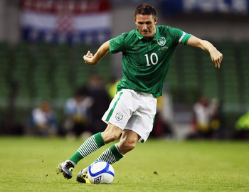 DUBLIN, IRELAND - AUGUST 10:  Robbie Keane of the Republic of Ireland in action during the International Friendly between the Republic of Ireland and Croatia at the Aviva Stadium on August 10, 2011 in Dublin, Ireland.  (Photo by Bryn Lennon/Getty Images)