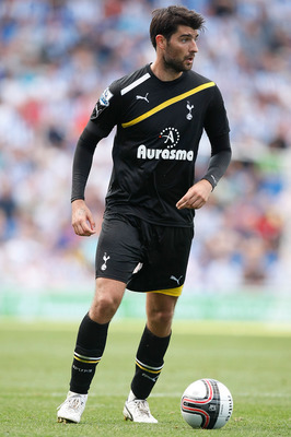 BRIGHTON, ENGLAND - JULY 30: Vedran Corluka of Tottenham Hotspur in action during the Pre Season Friendly match between Brighton & Hove Albion and Tottenham Hotspur at Amex Stadium on July 30, 2011 in Brighton, United Kingdom. (Photo by Tom Dulat/Getty Im