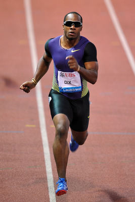 LAUSANNE, SWITZERLAND - JULY 08:  Walter Dix of the United States wins the Men's 200m during the IAAF Samsung Diamond League Athletissima meeting at the Olympic stadium on July 8, 2010 in Lausanne, Switzerland.  (Photo by Harold Cunningham/Getty Images)