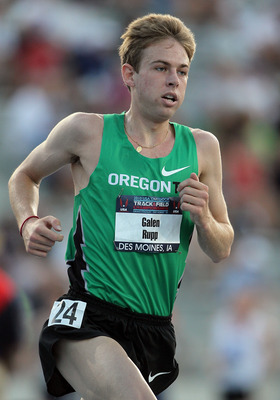 DES MOINES, IA - JUNE 24:  Galen Rupp runs in the Mens 10,000 Meter Final during the 2010 USA Outdoor Track & Field Championships at Drake Stadium on June 24, 2010 in Des Moines, Iowa.  (Photo by Andy Lyons/Getty Images)