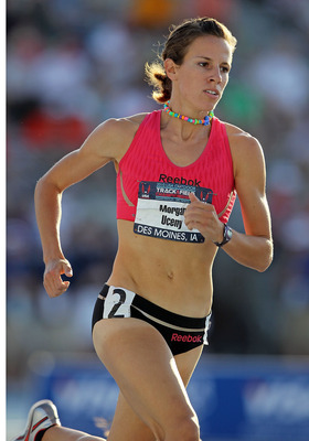 DES MOINES, IA - JUNE 25:  Morgan Uceny competes in the Womens 800 Meter during the 2010 USA Outdoor Track & Field Championships at Drake Stadium on June 25, 2010 in Des Moines, Iowa.  (Photo by Andy Lyons/Getty Images)