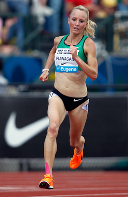 EUGENE, OR - JULY 03:  Shalane Flanagan of USA runs inthe 5000m during the IAAF Diamond League Prefontaine Classic on July 3, 2010 at Hayward Field in Eugene, Oregon.  (Photo by Jonathan Ferrey/Getty Images)