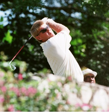 16 DEC 1995:  JOHN DALY OF THE USA TEES OFF THE THIRD HOLE DURING THE THIRD ROUND OF THE 1995 JOHNNIE WALKER WORLD CHAMPIONSHIP AT THE TYRALL GC IN MONTEGO BAY, JAMAICA. Mandatory Credit: Gary M. Prior/ALLSPORT