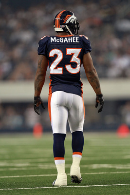 ARLINGTON, TX - AUGUST 11:  Willis McGahee #23 of the Denver Broncos at Cowboys Stadium on August 11, 2011 in Arlington, Texas.  (Photo by Ronald Martinez/Getty Images)