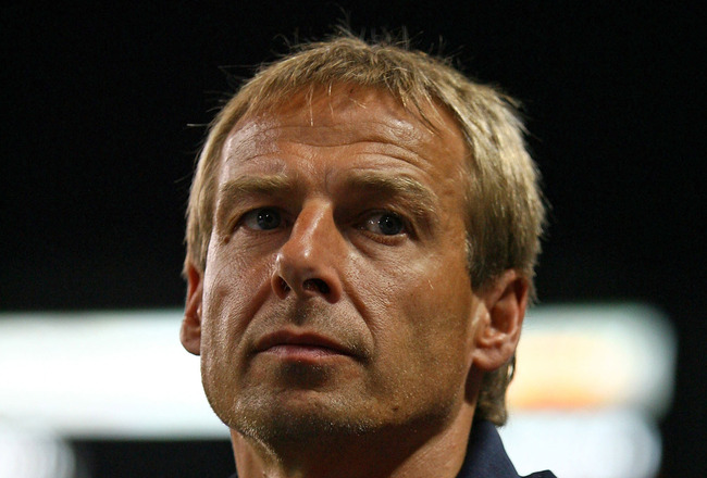 SAITAMA, JAPAN - JULY 31: Head Coach Juergen Klinsmann of Bayern Munich is seen during the pre season friendly between Urawa Red Diamonds and Bayern Munich at Saitama Stadium on July 31, 2008 in Saitama, Japan.  (Photo by Koji Watanabe/Getty Images)