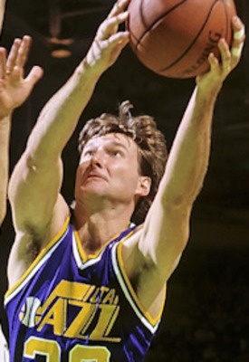 Bob Hansen during his time with the Utah Jazz