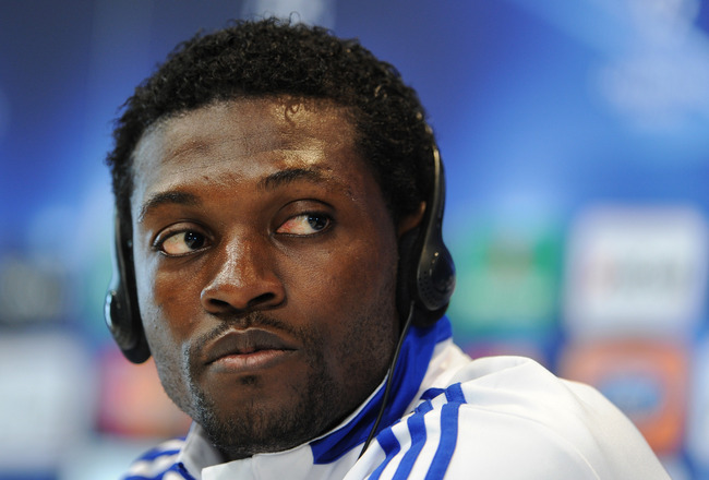 MADRID, SPAIN - MARCH 15:  Emmanuel Adebayor of Real Madrid listens to questions from the media during a press conference ahead of their UEFA Champions League round of 16 second leg match against Lyon on March 15, 2011 in Madrid, Spain.  (Photo by Jasper