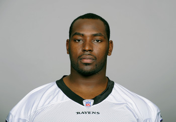 BALTIMORE, MD - CIRCA 2010:  In this handout image provided by the NFL , Arthur Jones of the Baltimore Ravens poses for his 2010 NFL headshot circa 2010 in Baltimore, Maryland.  ( Photo by NFL via Getty Images)