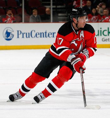 NEWARK, NJ - APRIL 02:  Ilya Kovalchuk #17 of the New Jersey Devils skates during an NHL hockey game against the Montreal Canadians at the Prudential Center on April 2, 2011 in Newark, New Jersey.  (Photo by Paul Bereswill/Getty Images)